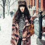 Boho in the snow.
